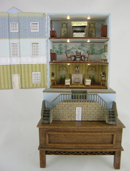 144th scale Georgian Dollhouse - Electrified - Click Image to Close