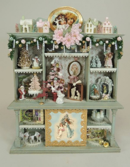 Victorian Shabby Chic Christmas Display - Click Image to Close