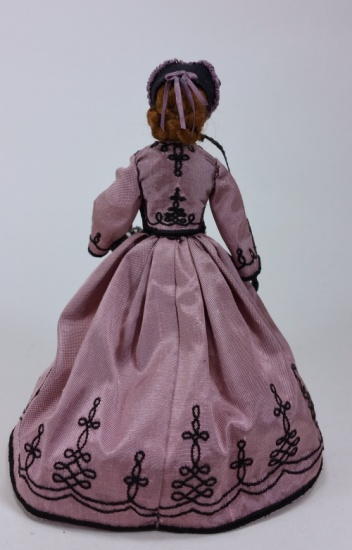 1/12 Scale Doll in 1860's Walking Costume - Click Image to Close
