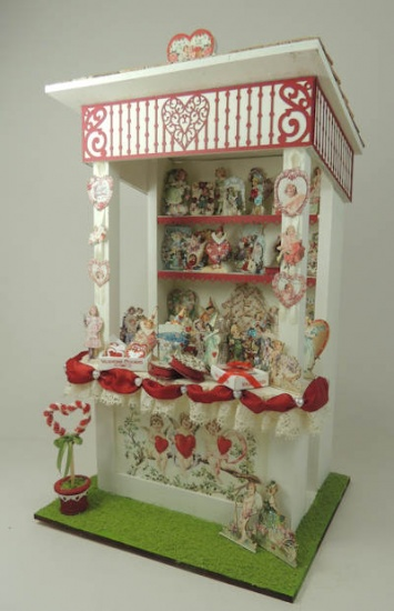 1/12 Scale Valentines Market Stall Online Class and Kit - Click Image to Close