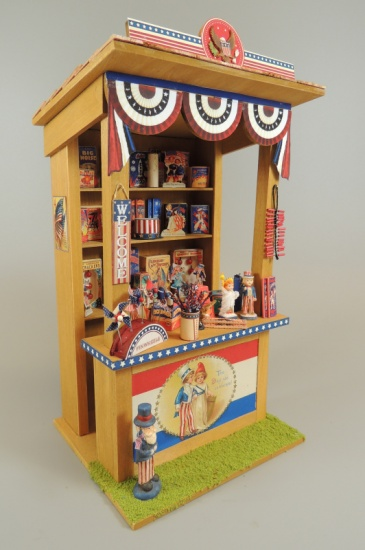 1/12 Scale Fourth Of July Market Kiosk - Click Image to Close