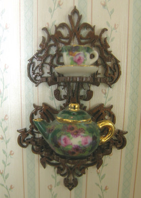 Teapot And Cup Shelf Dollhouse Teapot And Cup Shelff Kits