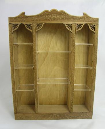 Large Shelving Unit Kit Dollhouse Miniature Shoppe Shelving