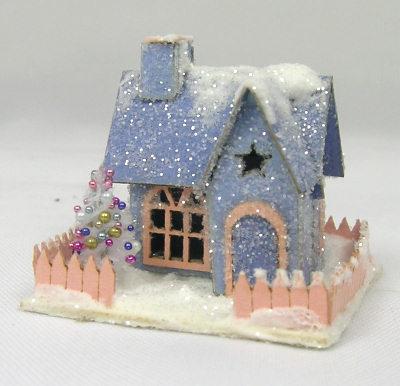 Miniature christmas putz houses cynthia howe miniatures - The tiny house village a miniature settlement ...