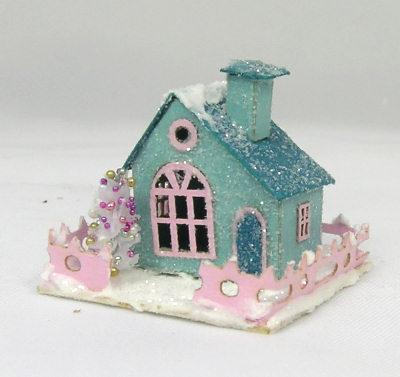 Miniature houses on Pinterest | Glitter Houses, Putz ...