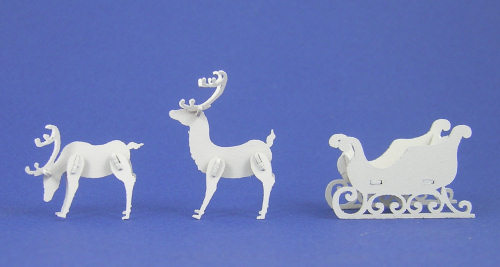 Reindeer And Sleigh Lb490 Miniature Dollhouse Kits Accessories
