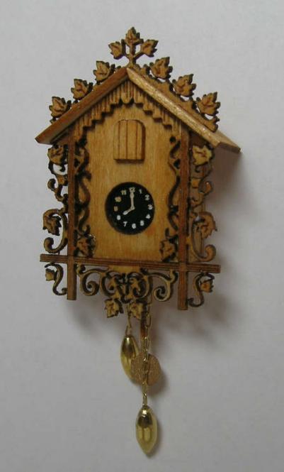 Mini cuckoo clock kit dollhouse miniature cuckoo clock kit lb180 miniature - Cuckoo clock plans ...