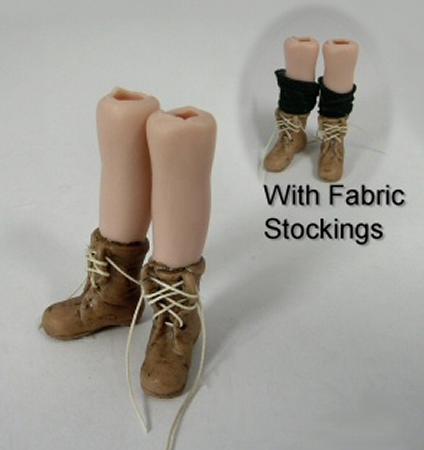reputable site arriving hot new products Old Lady Work Boots [CH121] : Miniature Dollhouse Kits ...