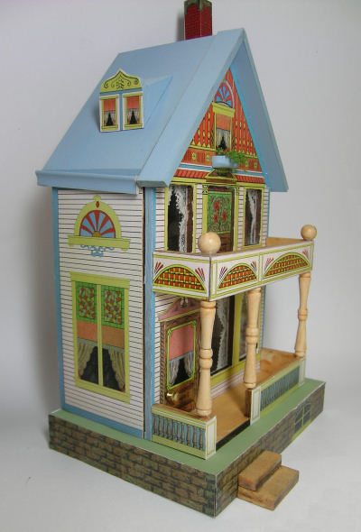"""Stained Glass"" Quarter Scale Bliss House Class/Kit - Click Image to Close"