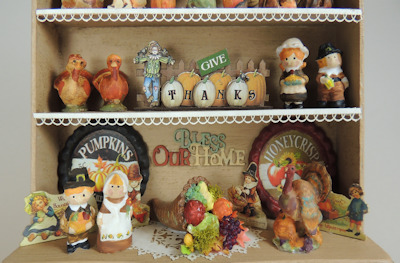 """Give Thanks"" Filled Thanksgiving/Harvest Hutch Online Class/Kit - Click Image to Close"
