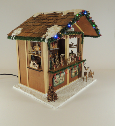 1/12 Scale Christmas Market Stall Class and Kit - Click Image to Close