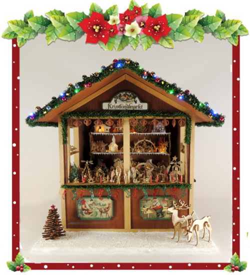 Christmas Miniatures.1 12 Scale Christmas Market Stall Class And Kit Oc Cms
