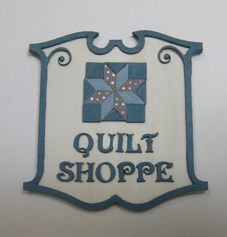 Quilt Shoppe Sign Kit - Click Image to Close