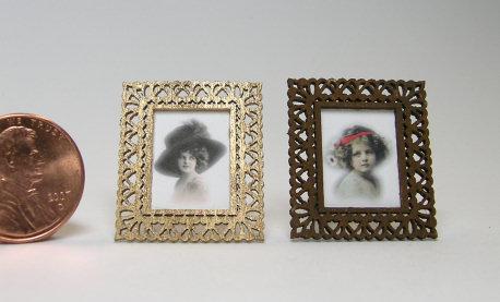 small filligree frame kit dollhouse miniature picture. Black Bedroom Furniture Sets. Home Design Ideas