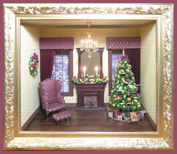 Christmas Roombox Kit Oc Drc Miniature Dollhouse Kits